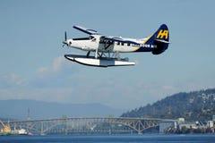 Descolagem plana do flutuador em Vancôver, Canadá Imagens de Stock