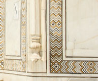 Descoloração de Taj Mahal, Índia Fotografia de Stock