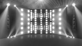 Descolorido ligero de la etapa 3d del concierto de la muchedumbre almacen de metraje de vídeo