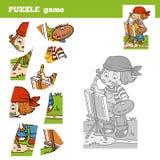 Desconcierte el juego para los niños con el artista de la muchacha Imagen de archivo libre de regalías