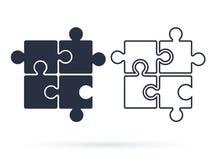 Desconcierte el vector del icono, muestra plana llenada, pictograma sólido aislado en blanco Símbolo de los plug-in, ejemplo del  stock de ilustración