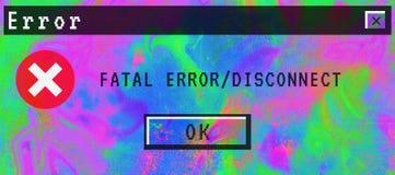 Desconexión digital del error no recuperable del fondo del extracto de la pendiente imagenes de archivo