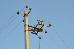 Desconexión eléctrica del poder en el pilar fotografía de archivo libre de regalías