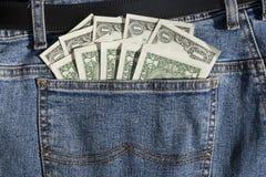 Desconte dentro o bolso Fotografia de Stock Royalty Free