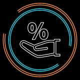 Desconte o ícone do sinal de por cento da venda, para o sinal da venda ilustração royalty free
