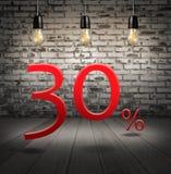 desconte 30 por cento fora com oferta especial do texto seu disconto dentro Imagens de Stock Royalty Free