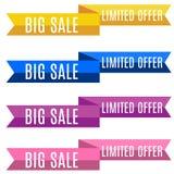 Desconte a venda grande das fitas da bandeira - coleção limitada da oferta Foto de Stock