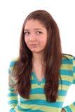 Descontento de la muchacha Imagen de archivo