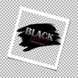 Desconto da venda das ofertas especiais de Black Friday do Polaroid Molde do projeto Ilustração do vetor ilustração stock