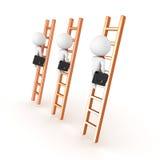 descrição 3D de escalar o conceito incorporado da escada Imagem de Stock