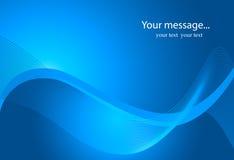 Descrição: Fundo dinâmico da onda no azul Fotografia de Stock