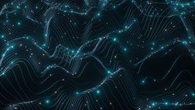 descrição 4K abstrata dos dados que fluem sobre uma rede filme
