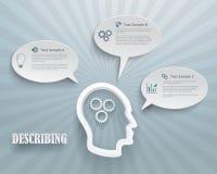 Describing Options Infographic Background Stock Photos