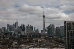 Descripción de la aguja de la torre del NC en Toronto Ontario Fotografía de archivo libre de regalías