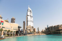 Descripción de la alameda de Dubai foto de archivo