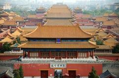 Descripción de la ciudad prohibida en Pekín, China Foto de archivo