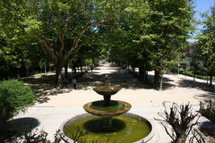 Descripción de la ciudadela del parque de la fuente Foto de archivo libre de regalías