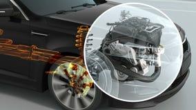 Descripción de la estructura del coche de la ciudad durante la conducción 4K libre illustration