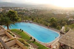 Descripción de la piscina en Xania Imagenes de archivo