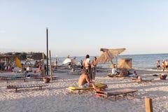 Descripción de la playa Foto de archivo