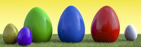 Descripción de los huevos de Pascua Imagen de archivo libre de regalías