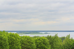 Descripción de los lagos Braslav foto de archivo