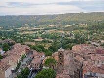 Descripción de Moustiers-Sainte-Marie, Francia foto de archivo libre de regalías