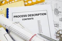 Descripción de proceso imagenes de archivo