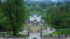 Descripción del palacio de Linderhof fotografía de archivo libre de regalías