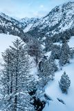 Descripción del valle de Ordino en Andorra Fotos de archivo libres de regalías