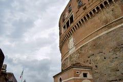 Descripción exterior de Sant 'Angelo Castle Italy foto de archivo