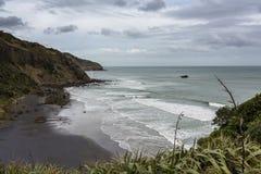 Descripción maorí de la bahía Fotos de archivo