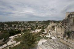 Descripción de Les Baux-de-Provence Imágenes de archivo libres de regalías