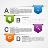 Descripteur abstrait de conception d'infographics Images libres de droits