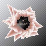 Descripteur abstrait de fond Explosion géométrique de papier de formes de polygone et de triangle Contexte coloré dynamique, vect illustration de vecteur