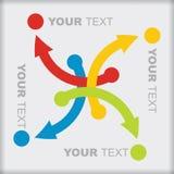 Descripteur avec des flèches de couleur Photo libre de droits