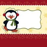 Descripteur blanc pour la carte de voeux de Noël Image libre de droits