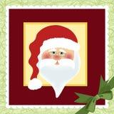 Descripteur blanc pour la carte de voeux de Noël Photo stock