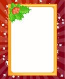 Descripteur blanc pour la carte de voeux de Noël Images stock