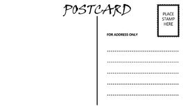 Descripteur blanc vide de carte postale illustration libre de droits