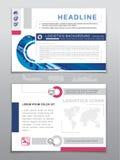 Descripteur d'affaires Icônes de logistique et carte du monde Couleurs bleues, grises, roses utilisées sur le fond blanc Image ré Photo stock