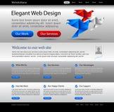 Descripteur d'argent de site Web d'affaires illustration de vecteur