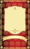 Descripteur d'or de cru. Images stock