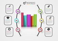 Descripteur d'Infographic Concept d'affaires avec des livres Vecteur Photos libres de droits