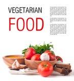 Descripteur d'isolement par nourriture végétarienne Photo stock