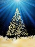 Descripteur d'an neuf avec l'arbre de Noël. ENV 8 illustration stock