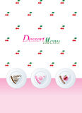 Descripteur de carte de dessert Photo stock