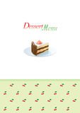 Descripteur de carte de dessert Photos libres de droits