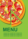 Descripteur de carte de pizza Photos stock