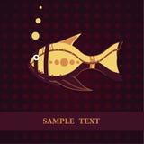 Descripteur de carte de poissons Images libres de droits